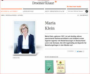 Maria Klein Neuerscheinung